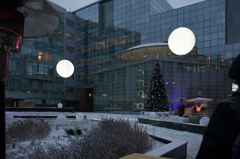 Новогодний двор Яндекса